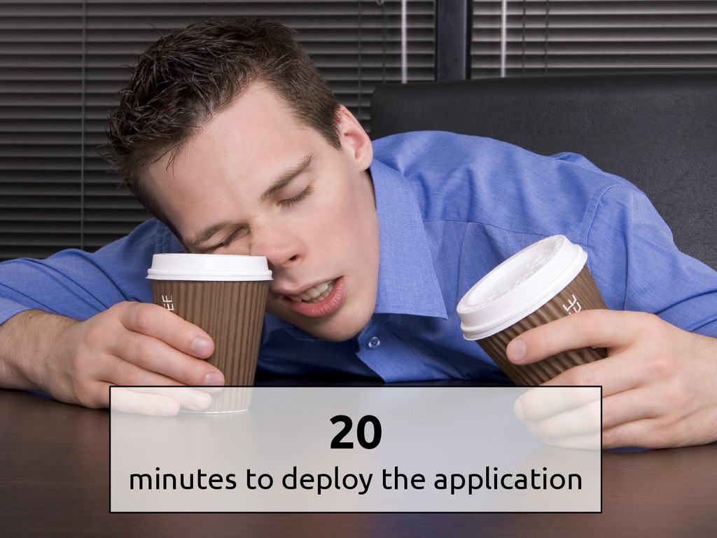 20 minutes to deploy the application