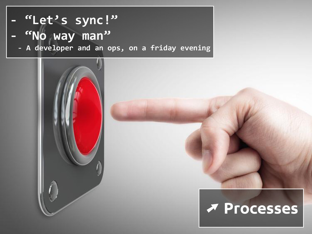 "➚ Processes - ""Let's sync!"" - ""No way man"" - A ..."
