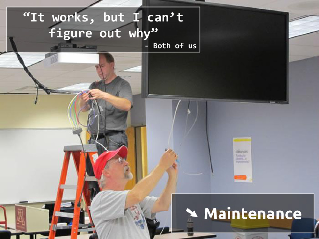 "➘ Maintenance ""It works, but I can't figure out..."