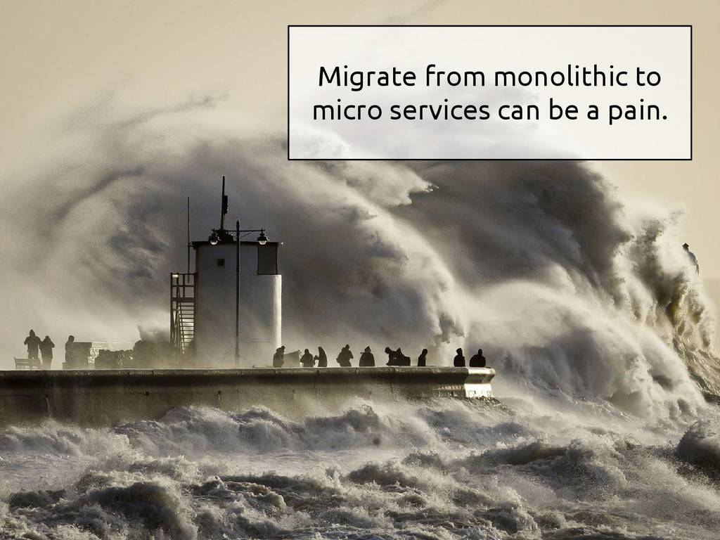 Migrate from monolithic to micro services can b...