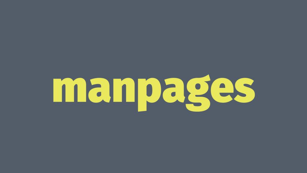 manpages
