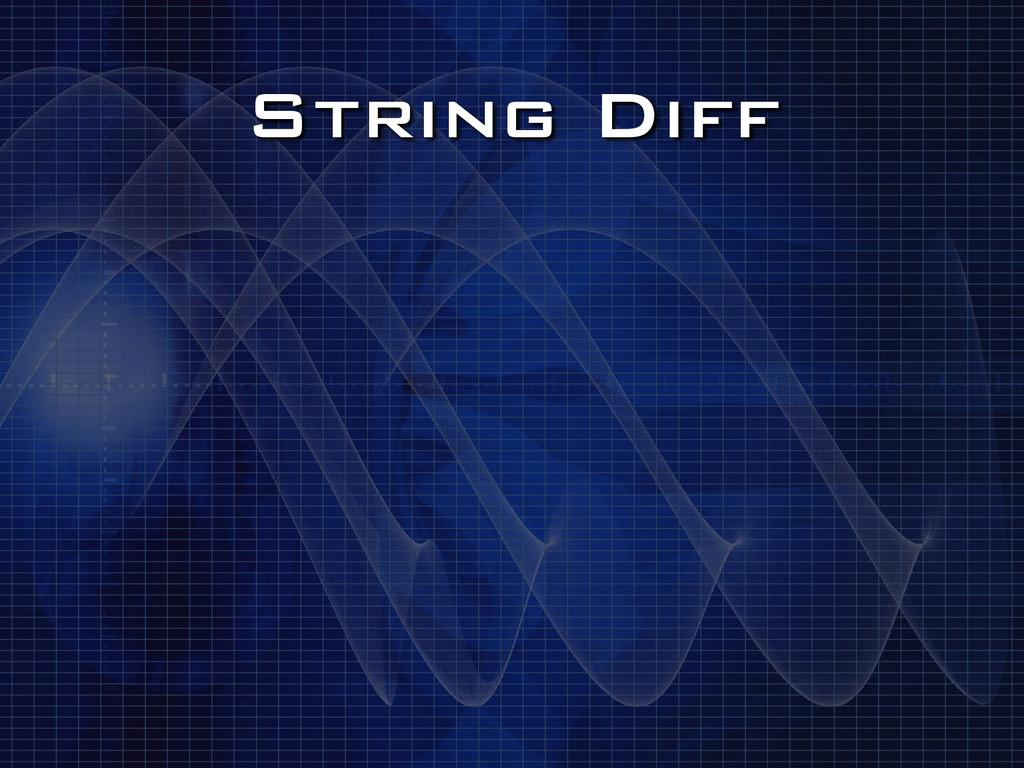 String Diff