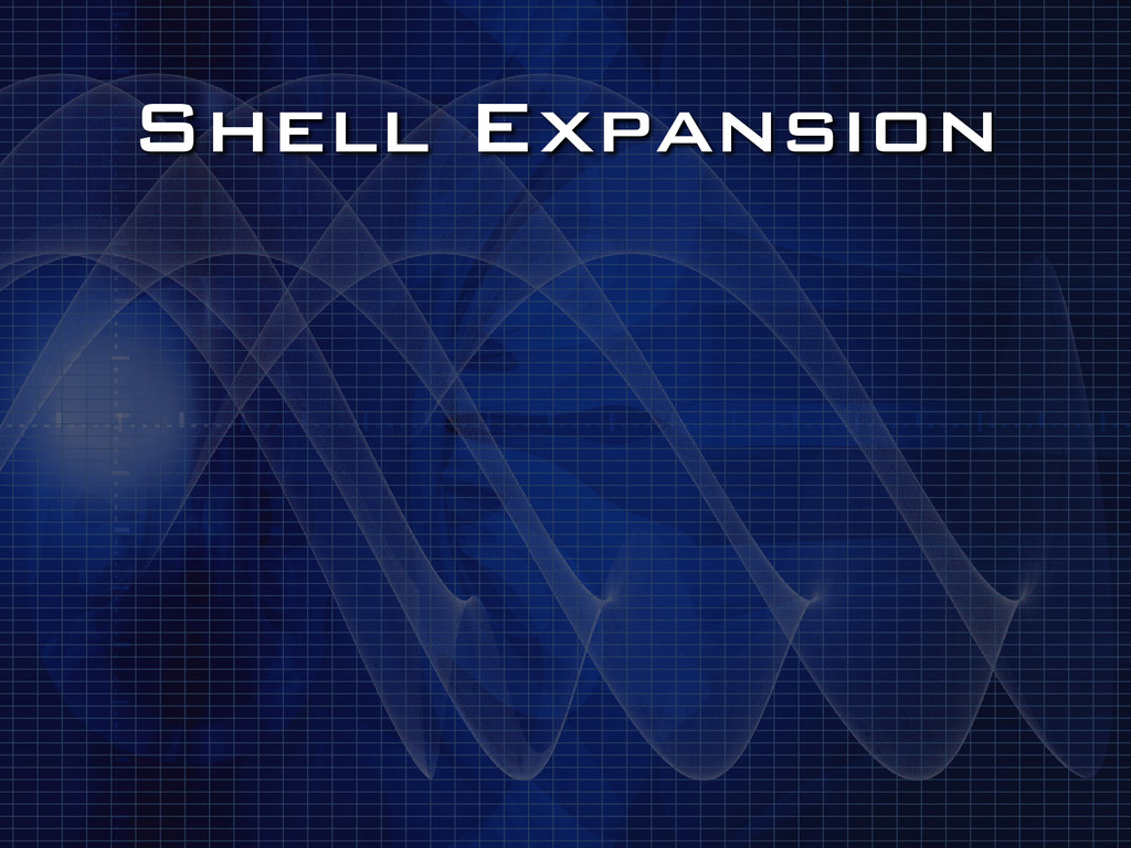 Shell Expansion