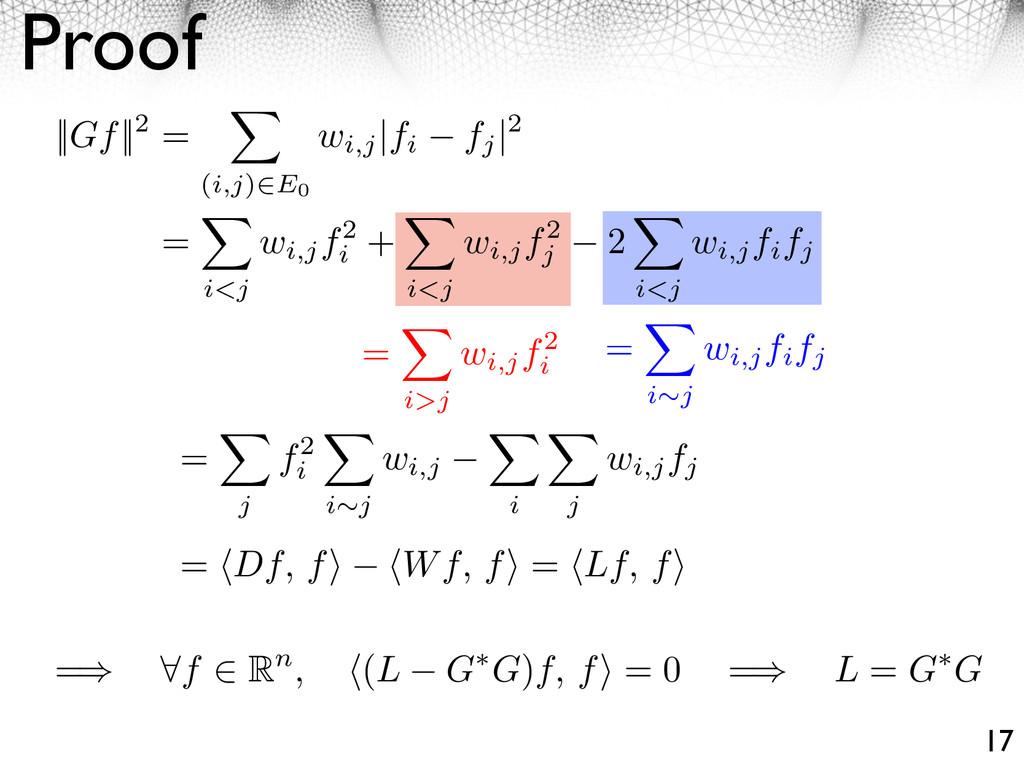 Proof 17   Gf  2 = (i,j) E0 wi,j  fi fj  2 = i>...