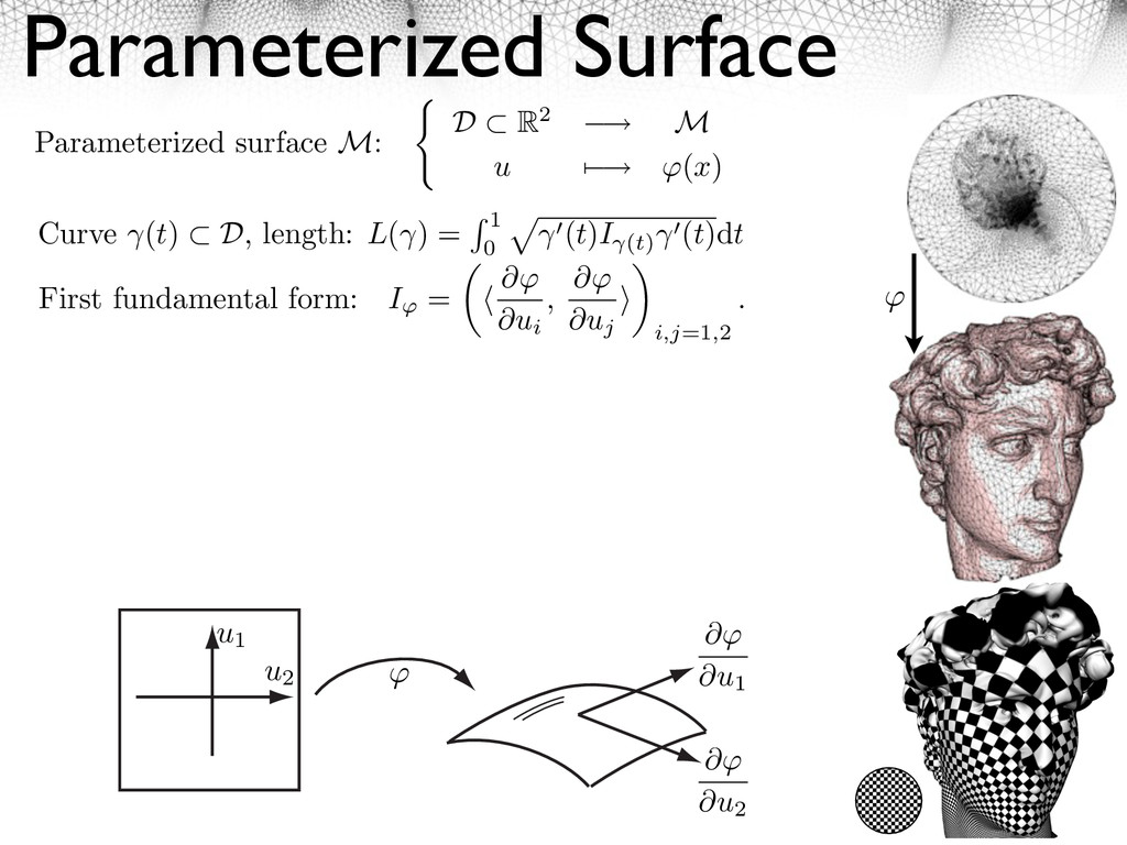 Parameterized Surface First fundamental form: I...