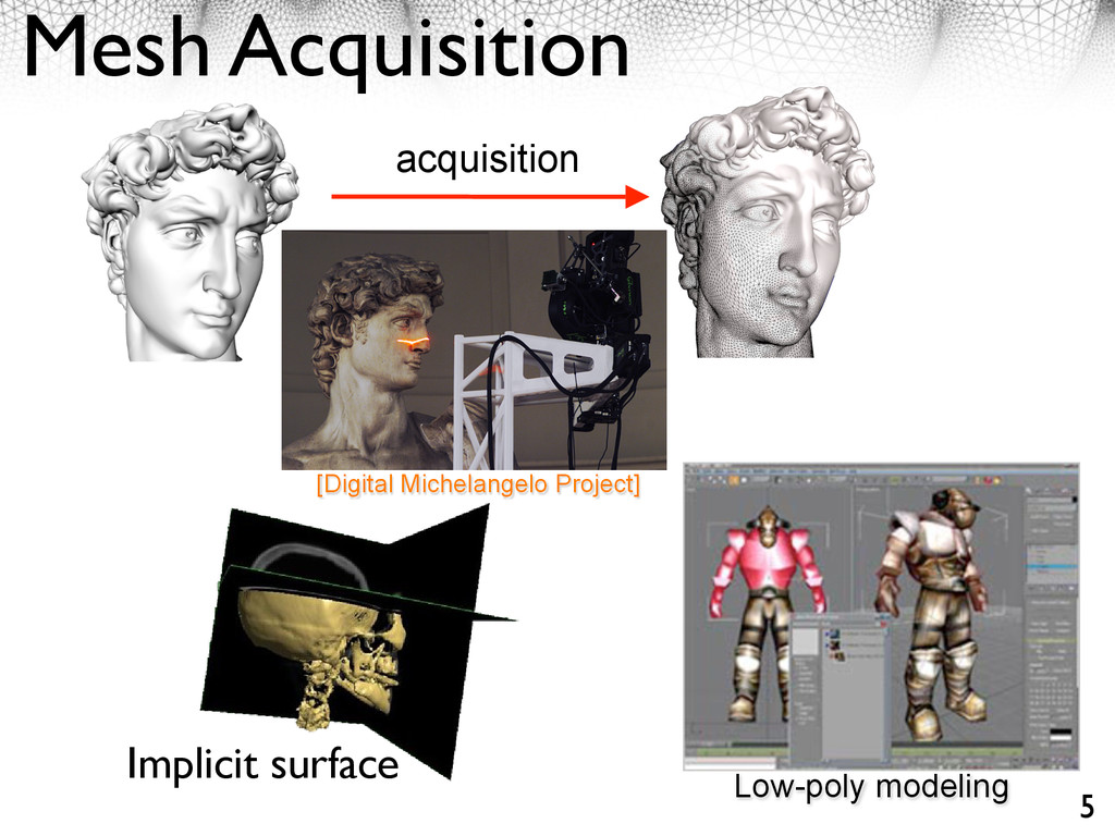 Mesh Acquisition acquisition [Digital Michelang...