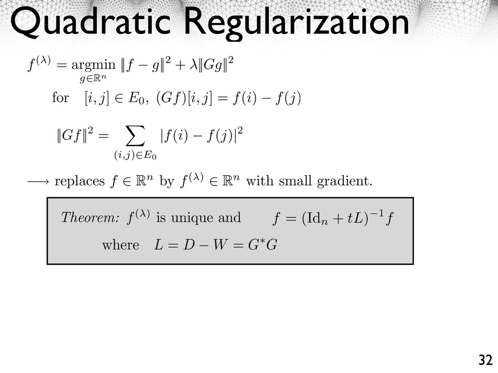 Quadratic Regularization 32 for [i, j] ⇥ E0, (G...