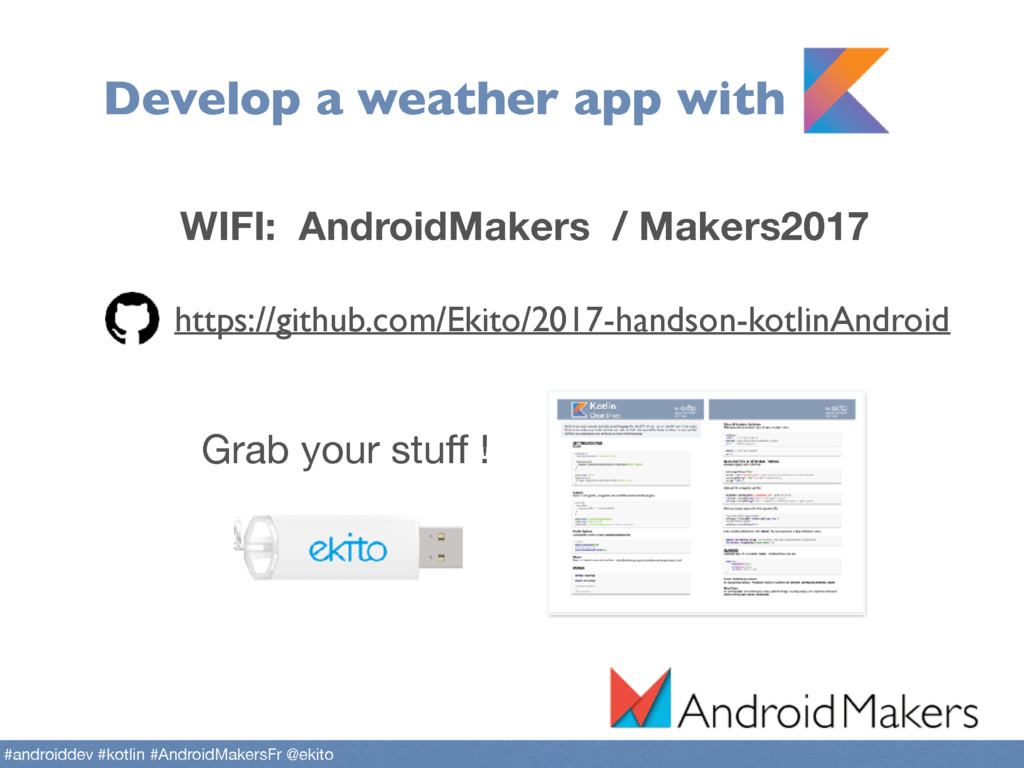 Develop a weather app with https://github.com/E...