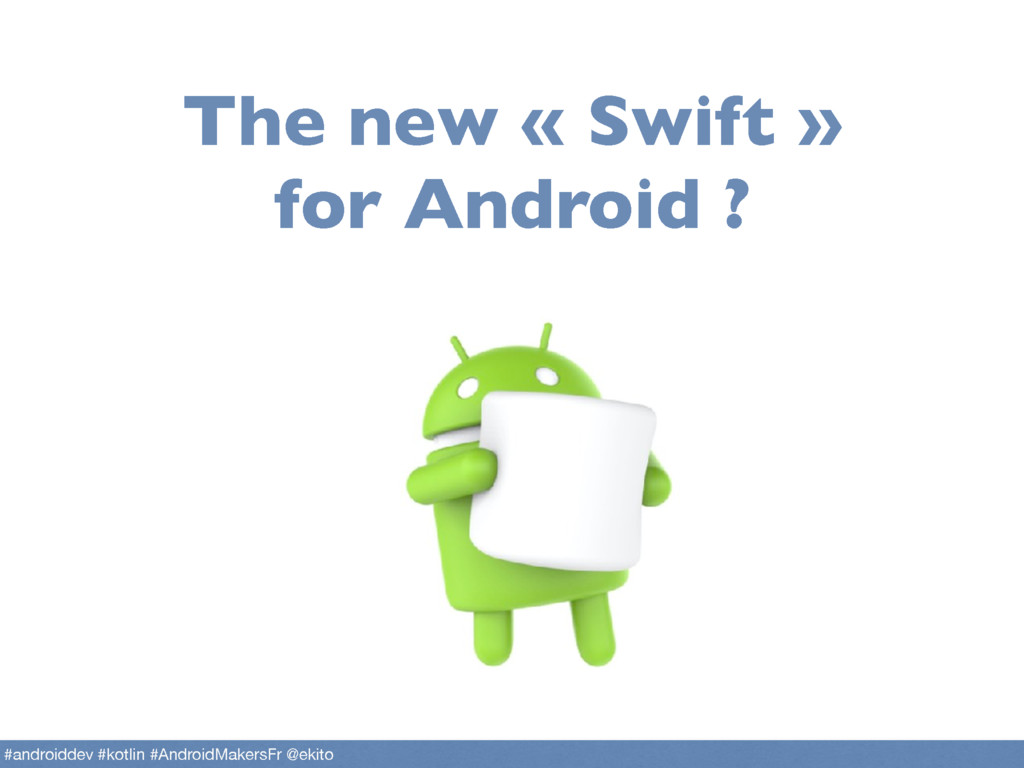 The new « Swift » for Android ? #androiddev #ko...