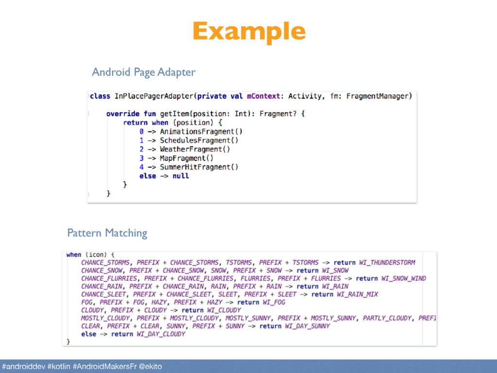 Example Android Page Adapter Pattern Matching #...