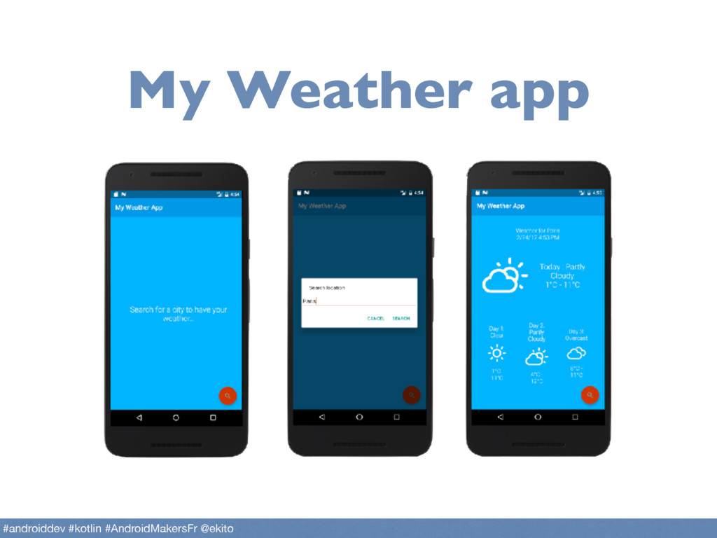 My Weather app #androiddev #kotlin #AndroidMake...