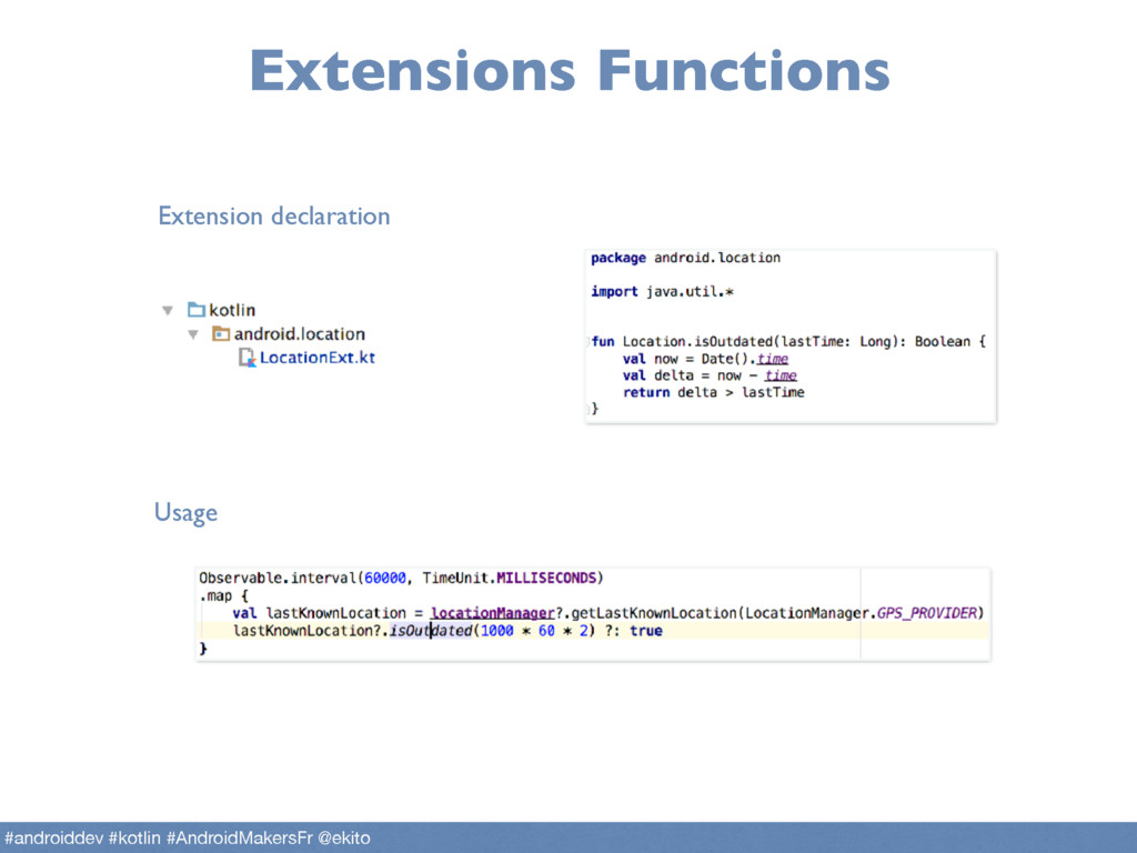 Extensions Functions Extension declaration Usag...