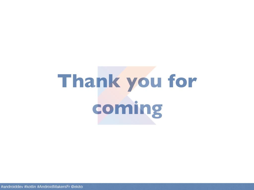 Thank you for coming #androiddev #kotlin #Andro...