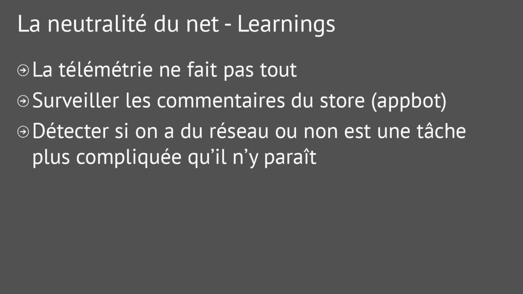 La neutralité du net - Learnings La télémétrie ...