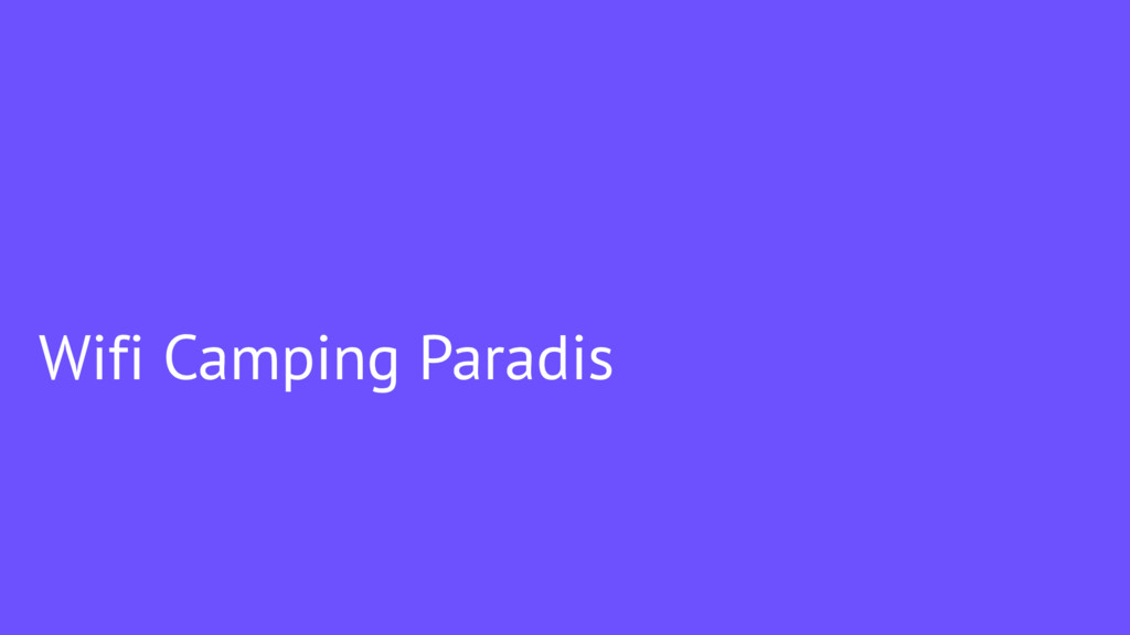 Wifi Camping Paradis