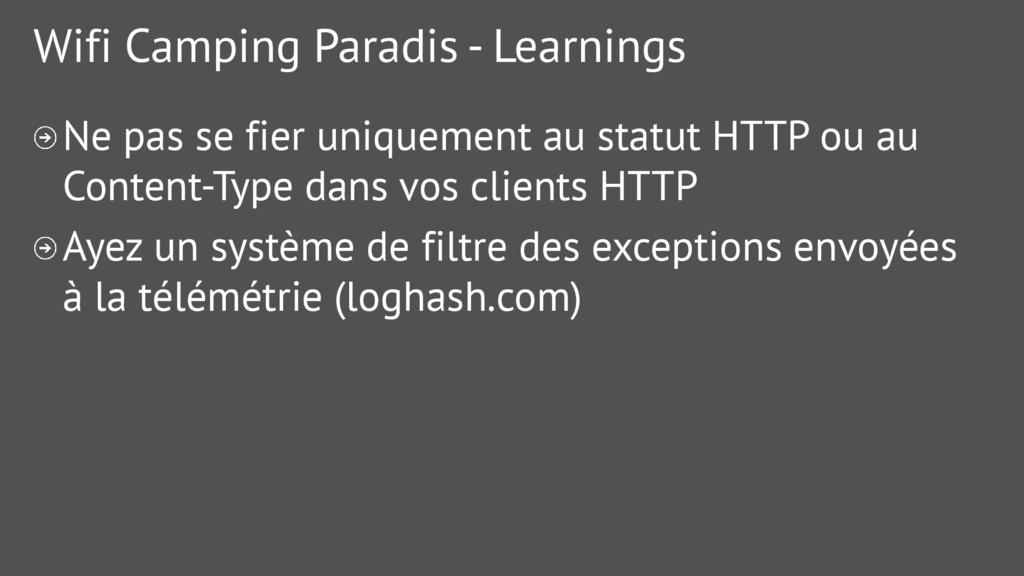 Wifi Camping Paradis - Learnings Ne pas se fier...