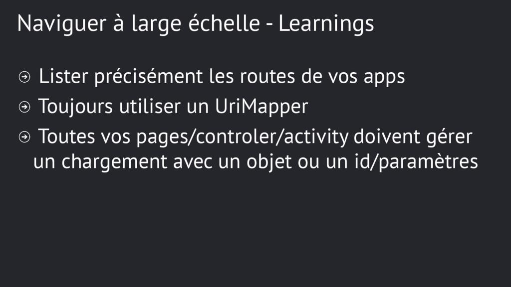 Naviguer à large échelle - Learnings Lister pré...