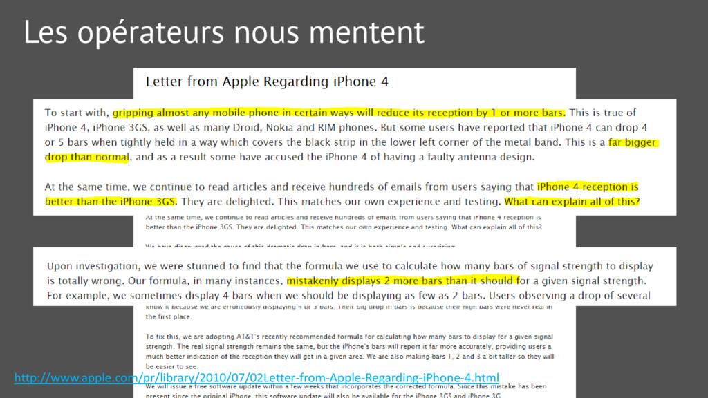 Les opérateurs nous mentent http://www.apple.co...