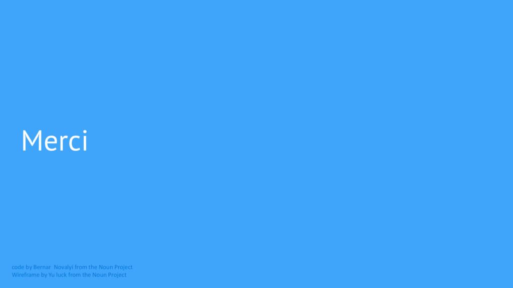 Merci code by Bernar Novalyi from the Noun Proj...