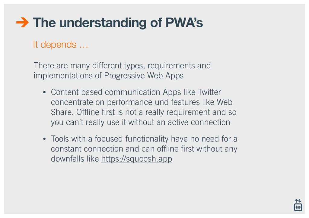 The understanding of PWA's There are many diffe...