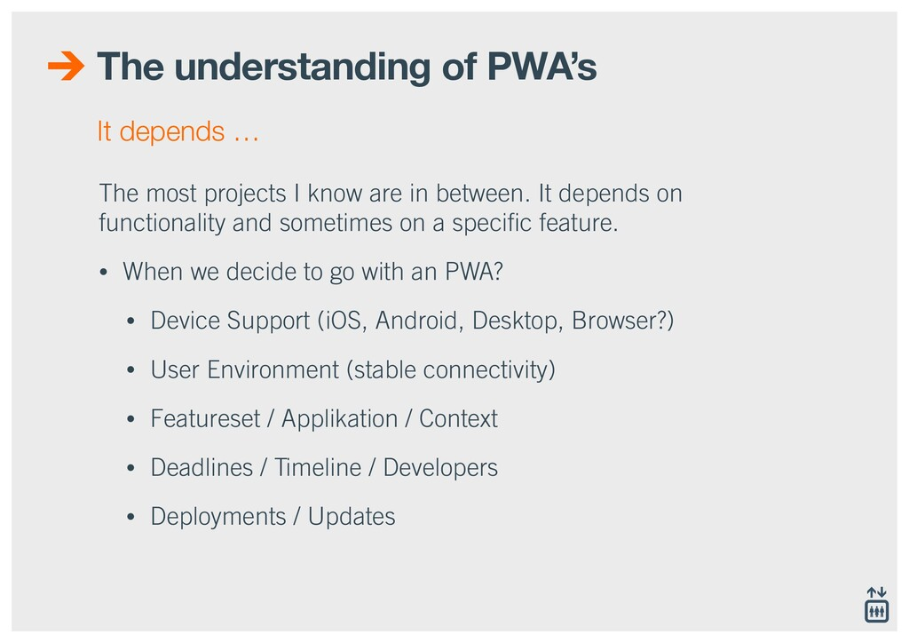 The understanding of PWA's The most projects I ...