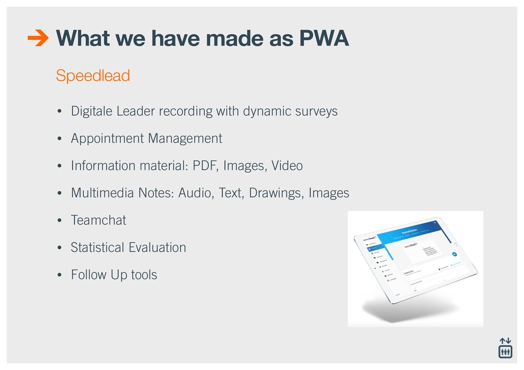 What we have made as PWA • Digitale Leader reco...