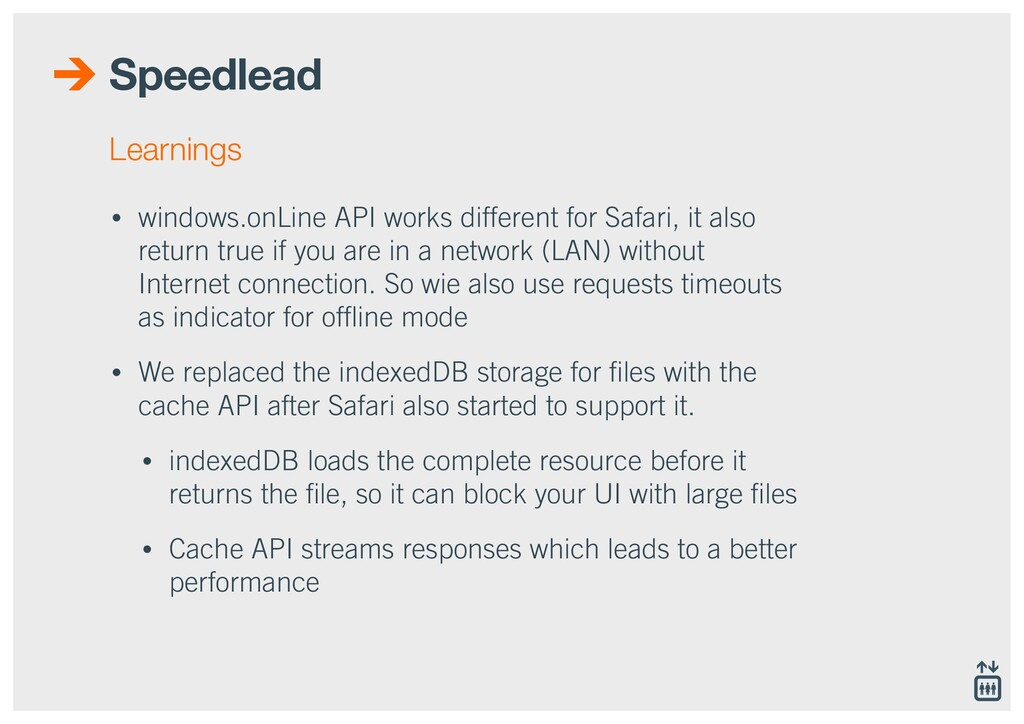 Speedlead • windows.onLine API works different ...