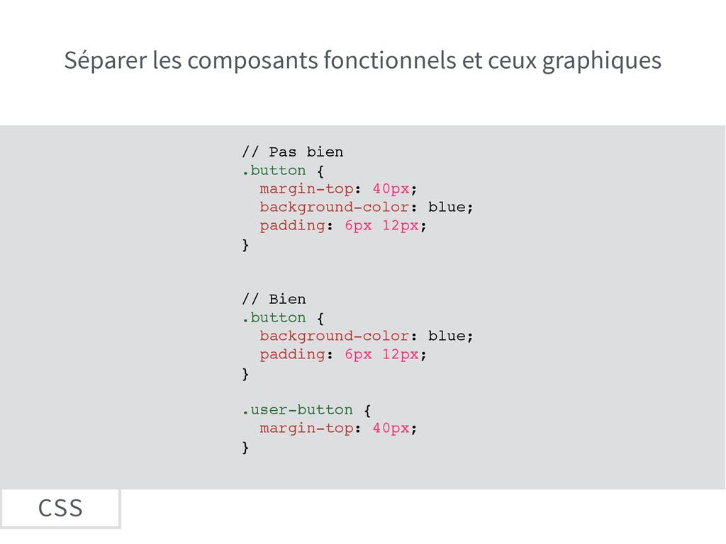 CSS Séparer les composants fonctionnels et ceux...