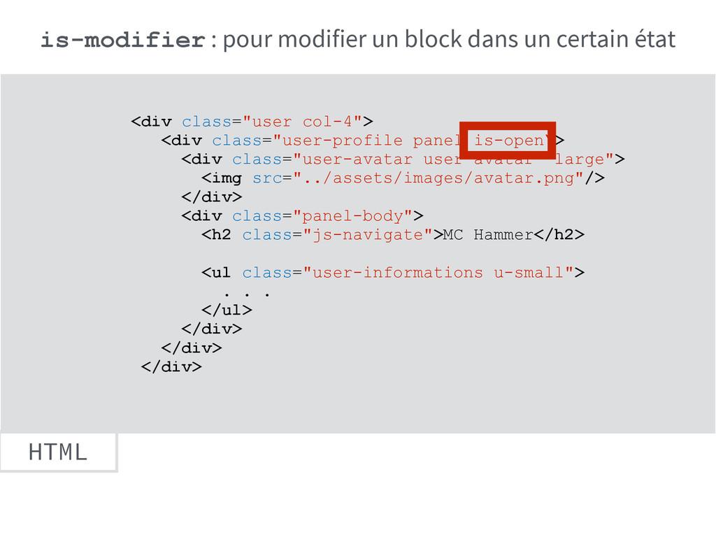 "HTML <div class=""user col-4""> <div class=""user-..."