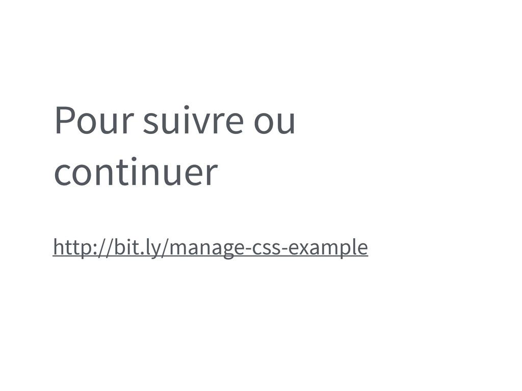 Pour suivre ou continuer http://bit.ly/manage-c...