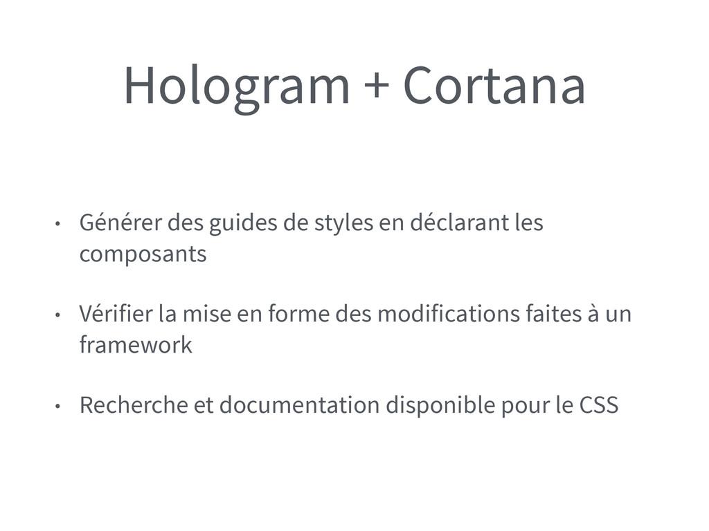 Hologram + Cortana • Générer des guides de styl...