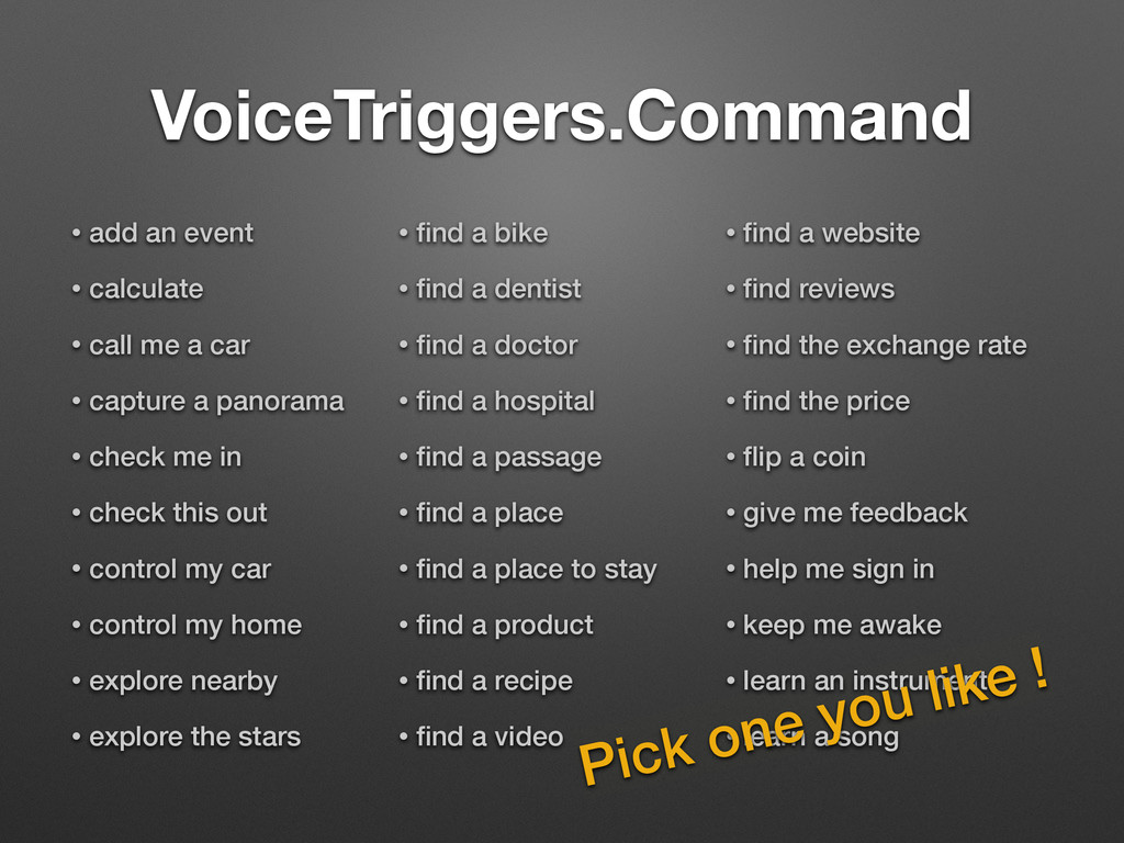 VoiceTriggers.Command • add an event • calculat...