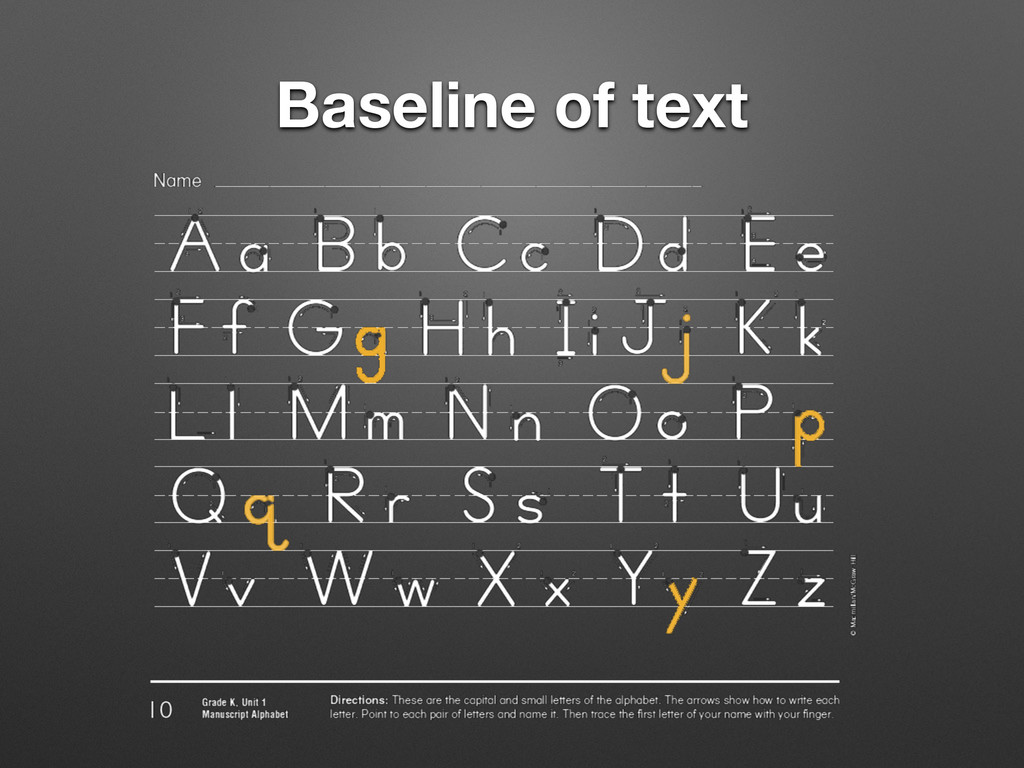 Baseline of text