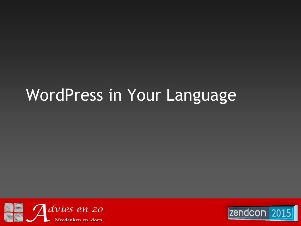 WordPress in Your Language