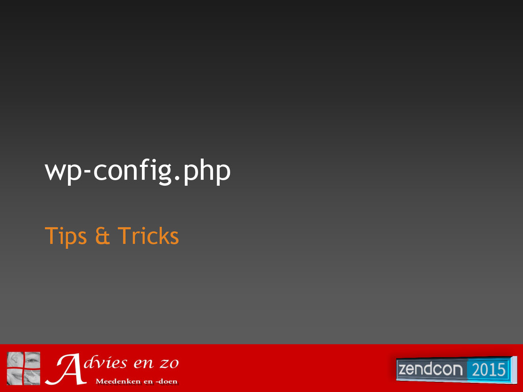 wp-config.php Tips & Tricks