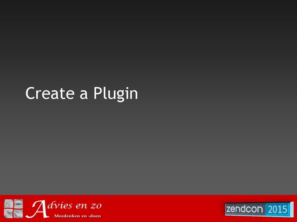 Create a Plugin