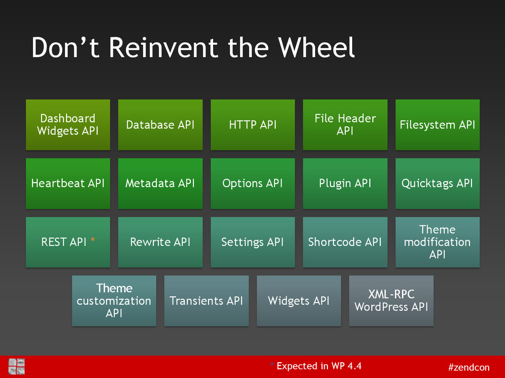 #zendcon Don't Reinvent the Wheel Dashboard Wid...