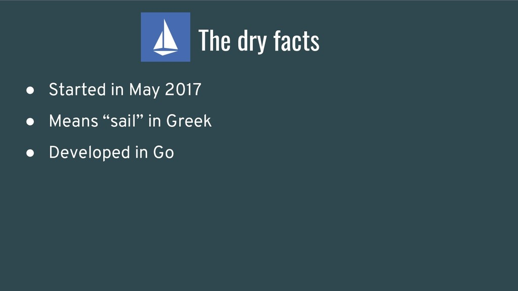 """The dry facts ● Started in May 2017 ● Means """"sa..."""