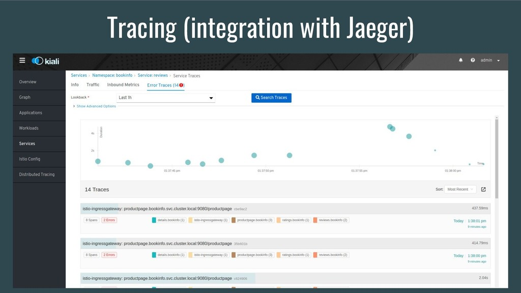 Tracing (integration with Jaeger)