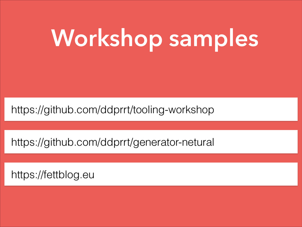 https://github.com/ddprrt/tooling-workshop http...