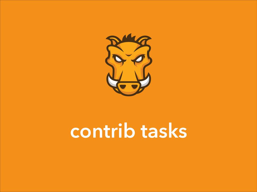 contrib tasks