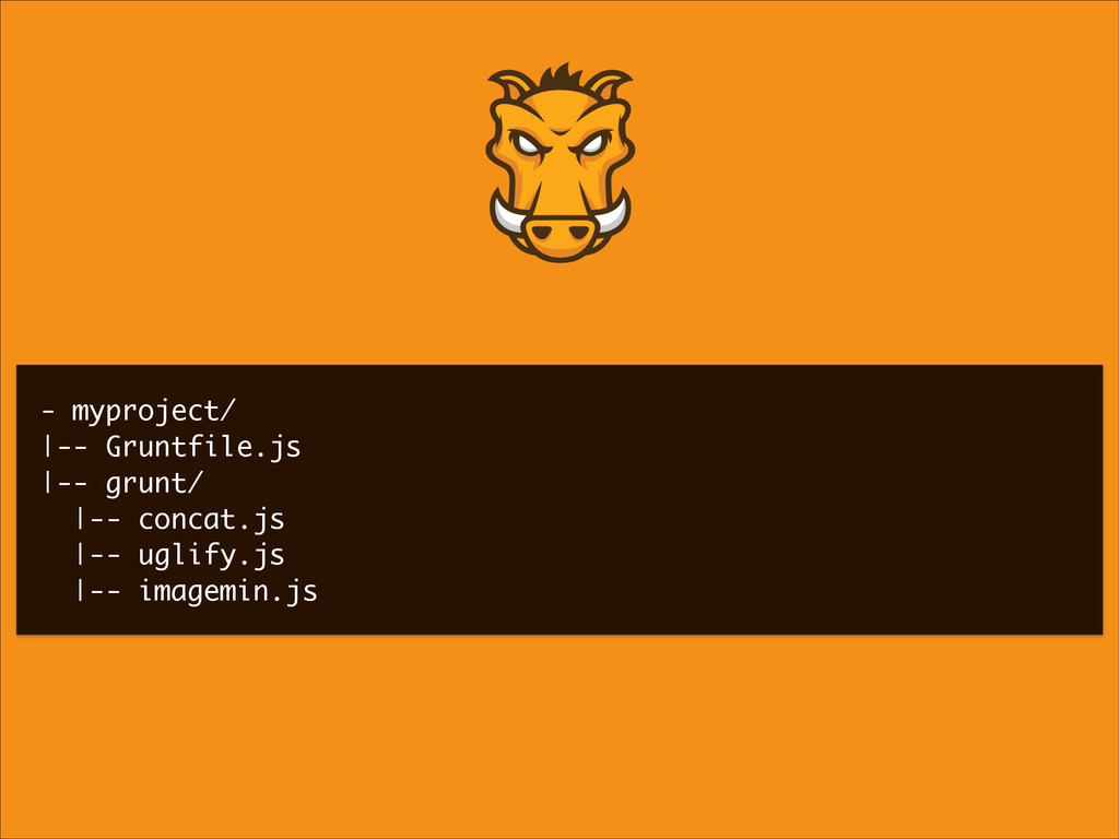 - myproject/ |-- Gruntfile.js |-- grunt/ |-- co...