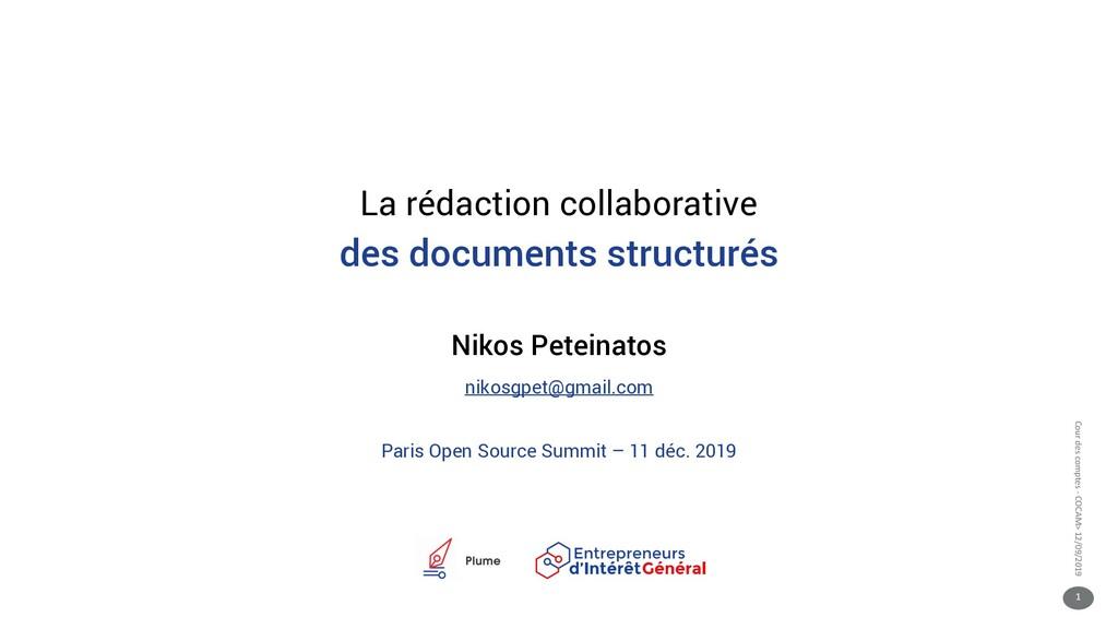 1 Cour des comptes - COCAM> 12/09/2019 La rédac...