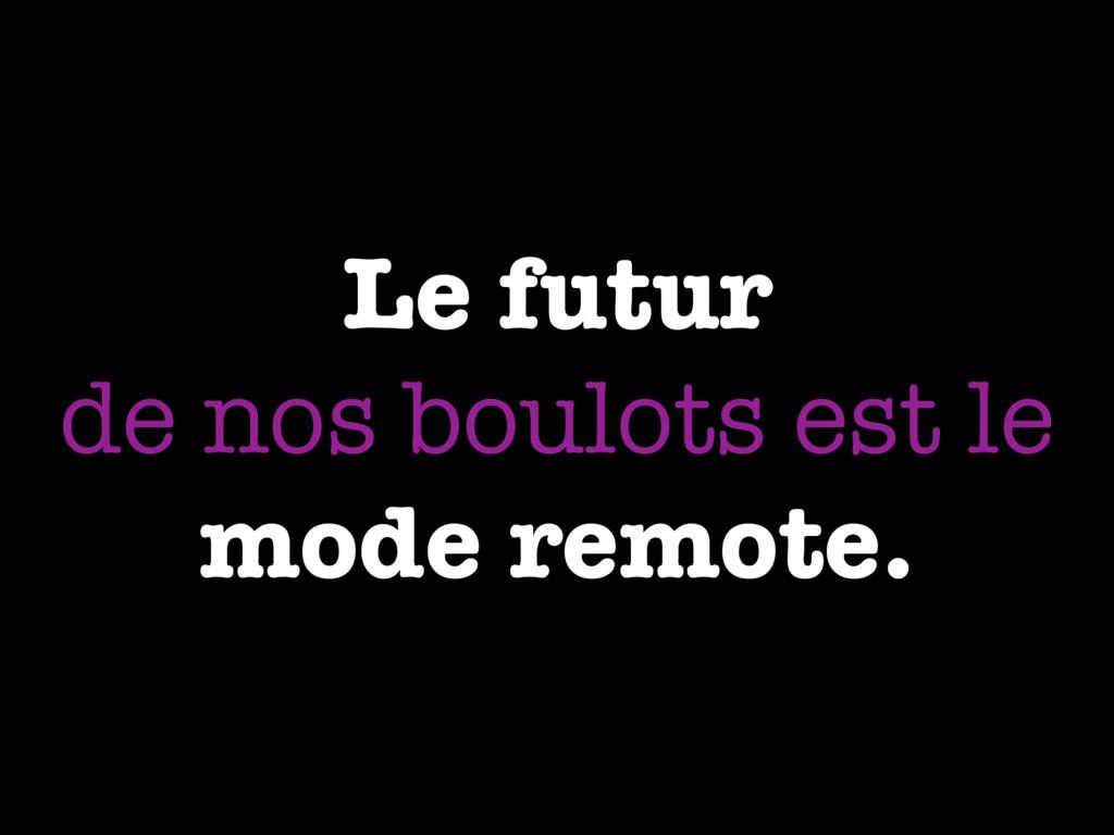 Le futur de nos boulots est le mode remote.