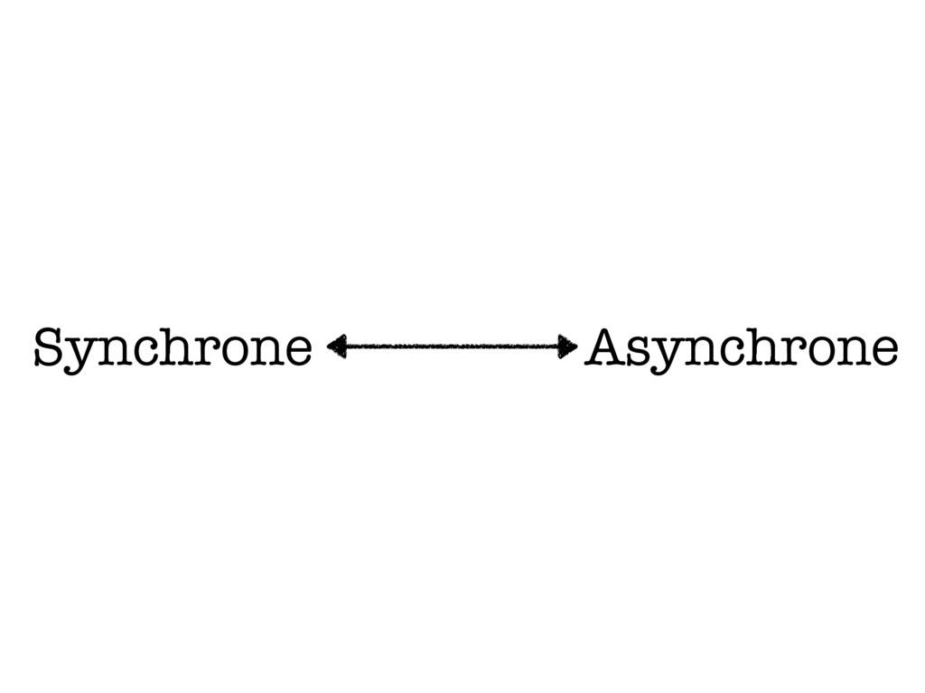Synchrone Asynchrone