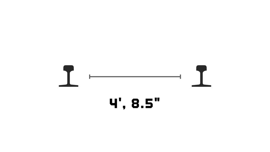 "4', 8.5"""