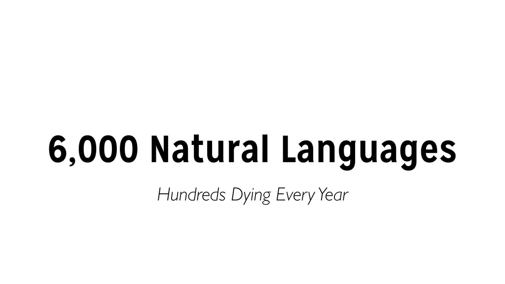 6,000 Natural Languages Hundreds Dying Every Ye...