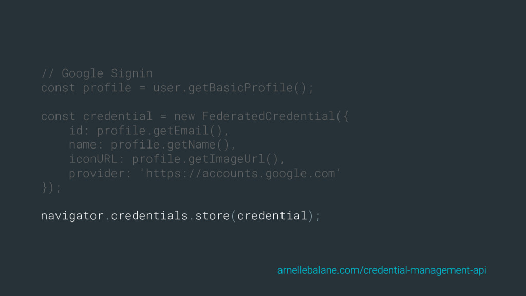 // Google Signin const profile = user.getBasicP...