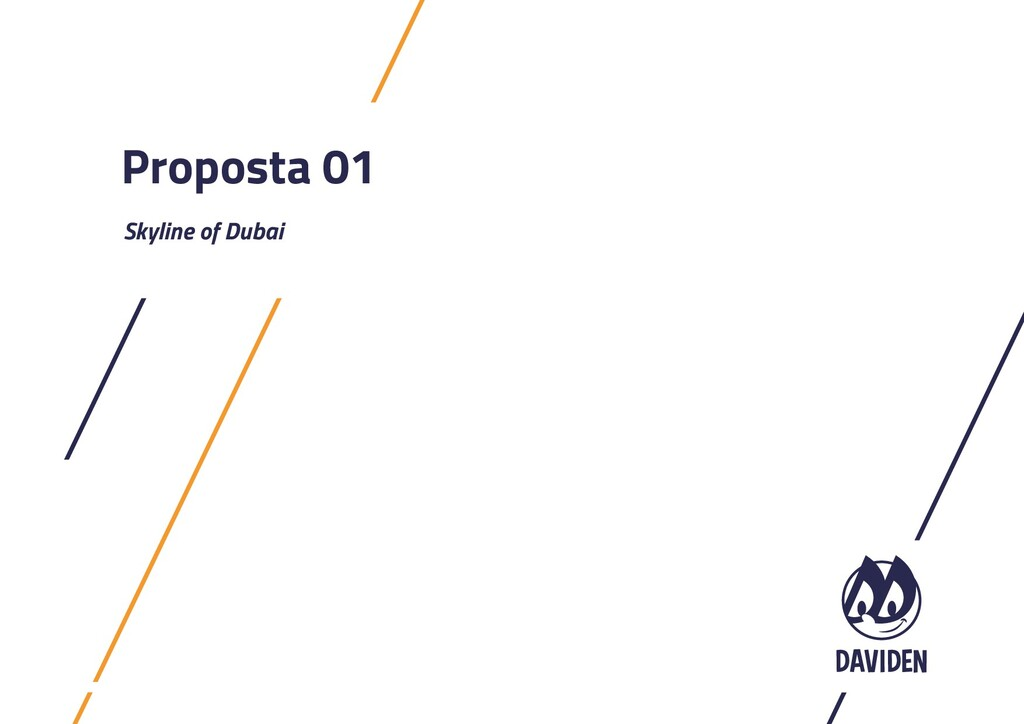 Proposta 01 Skyline of Dubai