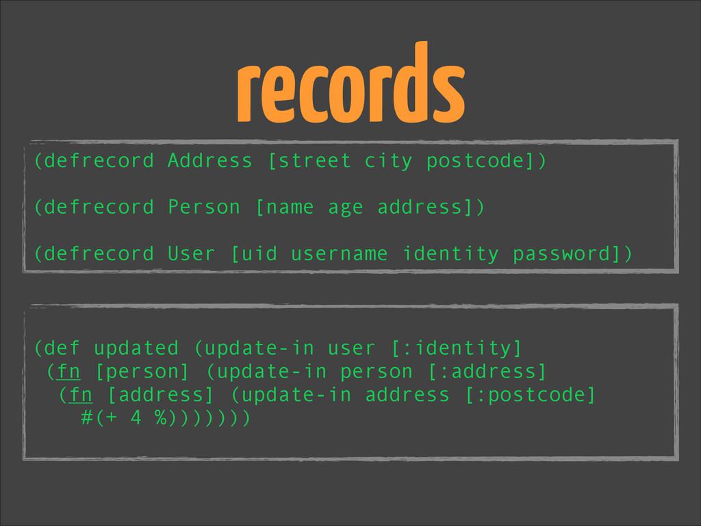 ! (def updated (update-in user [:identity] (fn ...